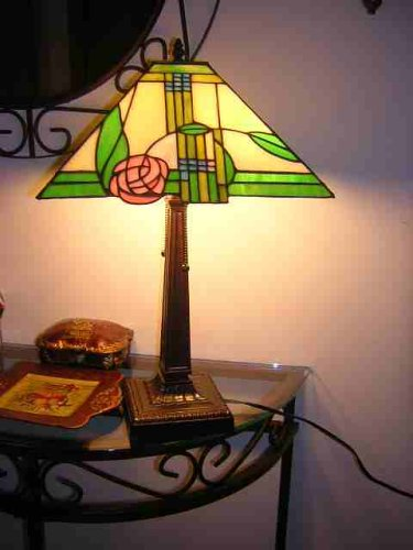 Mission Style American Stained Glass Tiffany Table Lamp Lams .