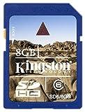 Kingston 8 GB Class 6 SDHC Flash Memory Card SD6/8GB