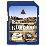Kingston 8 GB SDHC Class 6 Flash Memory Card SD6/8GBby Kingston
