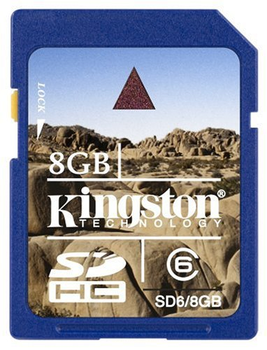 Kingston H. Corporation-Kingston 8GB SDHC Class 6 Flash Card SD6/8GB