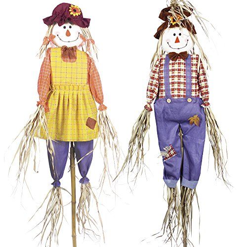 twin-pack-of-6ft-scarecrows-deter-birds-and-pests-from-your-garden-or-lawn