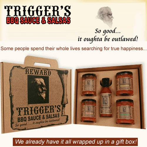 Trigger's Gourmet BBQ Sauce & Salsa Gift Box (Trigger Bbq compare prices)