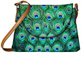 Snoogg Peacock Pattern 2 Womens Carry Around Sling Bags