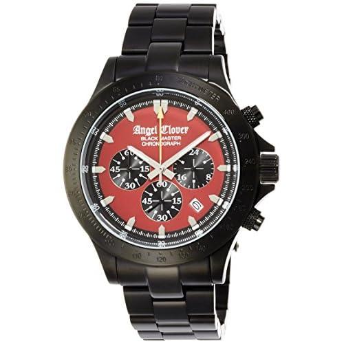 [エンジェルクローバー]Angel Clover 腕時計 ブラックマスターミリタリー レッド文字盤 ステンレス(BKPVD)ケース クロノグラフ BM46BRE メンズ