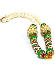 SRRK MultiColor Gold Plated Necklace With Real Pearls (Fresh Water) For Women (PRL0124)