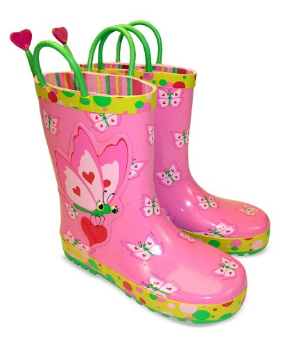 Melissa and Doug Bella Butterfly Rain Boots