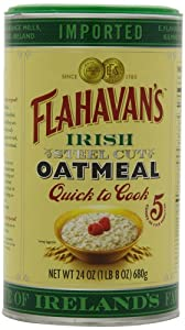 Flahavan's Irish Steel Cut Oatmeal Quick To Cook Drum, 24-ounces (Pack of 2)