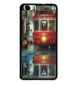 Fuson Premium 2D Back Case Cover Tram With Pink Background Degined For Huawei Honor 6