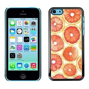 Omega Covers - Snap on Hard Back Case Cover Shell FOR Apple iPhone 5C - Orange Grapefruit Pattern Fruit