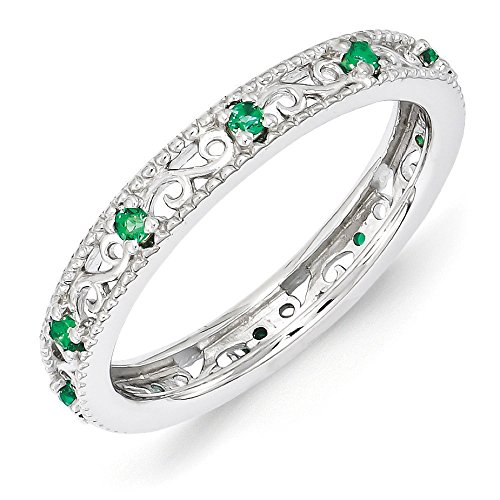 3mm-Sterling-Silver-Stackable-Expressions-Created-Emerald-Scroll-Band