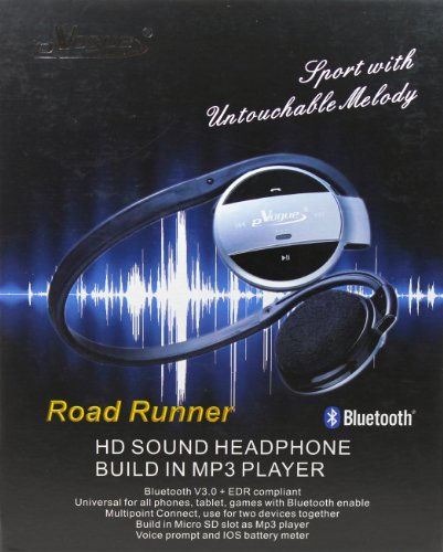 Road Runner Sport Hd Sound Bluetooth Headphones With Built In Mp3 Player. Ce & Fcc Approved