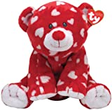 Ty Pluffies Dreamly Red Bear with White Hearts