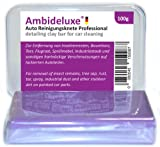 Clean it now! car clay bar kit for cars - the purple varnish cleaner by Ambideluxe® for cars and motorcycles for a gentle varnish cleaning of tree resin, tar, flash rost, splashing, industry dust and other persistent dirt with the varnish car cleaner va