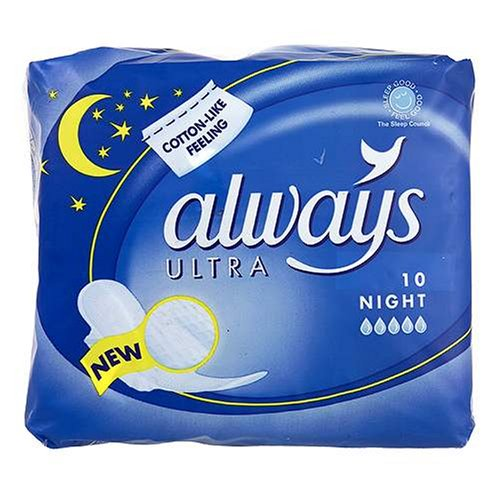 Always Ultra Sanitary Towels Nightime x 10
