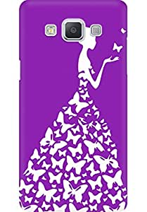 AMEZ designer printed 3d premium high quality back case cover for Samsung Galaxy A5 (pink purple white girl princess)