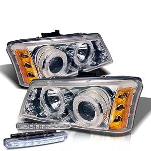 amazon com 2003 2004 chevy silverado 2500 halo headlights