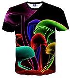 Pizoff Männer T-Shirt kurze Ärmel stereoskopische 3D-kühlen Spaß Hip-Hop-Mode- Unisex-Tops Y1730-12-XL