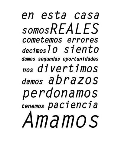 """Ambiance Live Vinilo Decorativo """"En esta Casa Amamos"""" Negro"""
