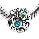 512DpXyjwEL. SL160  December Birthstone Flowers Beads Fits Pandora Charm Bracelet