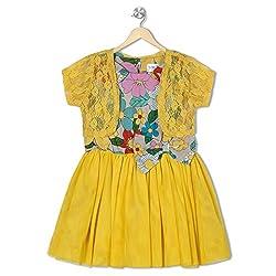 Soulfairy Girls' Dress (SS16-DRSFRL-001S_Yellow_5-6 Years)