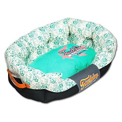 Touchdog-Floral-Galore-Ultra-Plush-Rectangular-Rounded-Designer-Dog-Bed