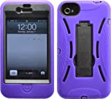 PURPLE SHOCK PROOF ARMORED DEFENDER CASE/COVER WITH STAND FOR IPHONE 4 4S 4G 4GS