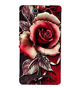 Red Rose 3D Hard Polycarbonate Designer Back Case Cover for Sony Xperia C3 Dual :: Sony Xperia C3 Dual D2502