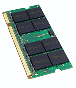 PNY OPTIMA 2GB DDR2 667 MHz PC2-5300 Notebook / Laptop SODIMM Memory Module MN2048SD2-667