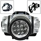 4 Mode 12 LED Headlamp with Adjustable Lamp & Straps Flash Light Camping Light