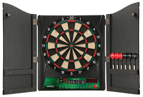 Find Bargain Regent-Halex Millennia 1.0 Electronic Dartboard in Wood Cabinet, Brown, Medium