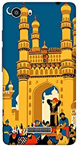 The Racoon Grip hyderabad diaries hard plastic printed back case/cover for Micromax Unite 3