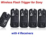 Pixel TF373 Wireless Flash Trigger for Sony 1 Transmitter 4 Receive HVL-F58AM Sony: a900. a700, a550, a500, a450, a350, a330, a300, a230, a200, a100 ,HVL-F58AM HVL-F56AM HVL-42AM HVL-F36AM HVL-MT24AM HVL-RLAM