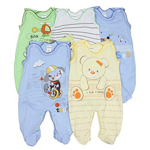 5er Set Baby Strampler 100% Baumwolle Babystrampler Strampelanzug Junge Mädchen, Farbe: Junge, Größe: 80