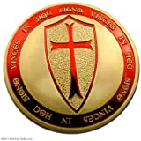 Knights Templar Coin Pure Gold Plated Exclusive Art Coin Special Limited Edition Coins Only 500 Made!