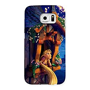 Gorgeous Angel Thinking Multicolor Back Case Cover for Samsung Galaxy S6