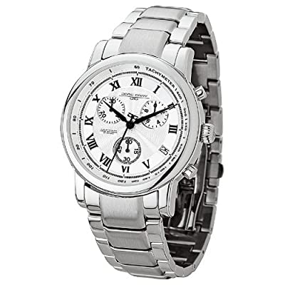 Jorg Gray JG7200-15 - Men's Swiss Chronograph Watch, Date Display, Sapphire Crystal, Stainless Steel Bracelet