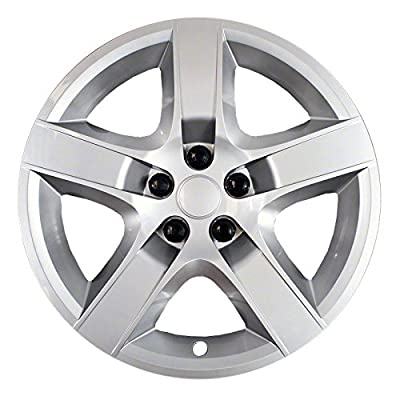 2007-2010 Pontiac G6 17 inch Silver Bolt-On Hubcap Covers (Set of 4)