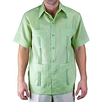Linen Short sleeve Sage Guayabera