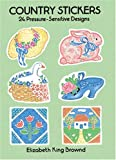 img - for Country Stickers: 24 Pressure-Sensitive Designs (Dover Stickers) book / textbook / text book