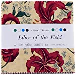 "Lilies of the Field Moda Charm Pack By Jan Patek Quilts; 42 - 5"" Quilt Squares"