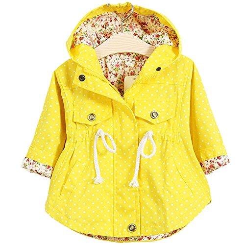 EGELEXY Little Girls Spring Autumn Winter Baby Coat Jackets Hoodies 1-2