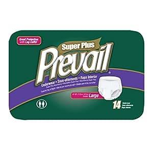 Prevail Super Plus Disposable Underwear - Large (14 Count)