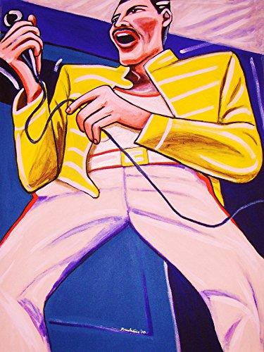 FREDDIE MERCURY PRINT POSTER sheer heart cd Queen night at the opera lp record album vinyl made in heaven concert (Queen Vinyl Made In Heaven compare prices)