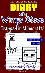 Diary of a Wimpy Steve series: Trapped in Minecraft! (Book 1) (An Unoffical Minecraft Book)