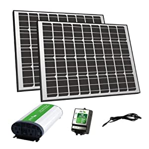 Nature Power 57002 Mono Crystalline Off-Grid Solar Panel Kit, 170-watt
