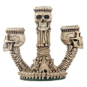 StealStreet Ossuary Skeleton Triple Candle Holder