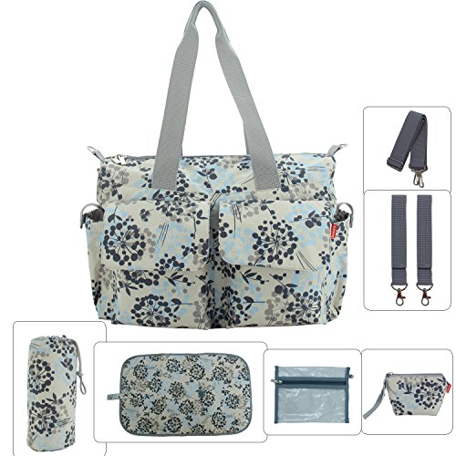 Damero Floral Designer Diaper Tote Bags (Dandelion)