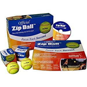 Softball Excellence Zip Ball Training Aid Kit (12 Balls) With Instructional Drills... by Softball Excellence