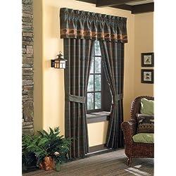 Croscill Caribou Tailored Window treatment Valance, Multicolor