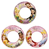 Disney Princess Swim Rings Set Of 3 Swimming Pool Toys For Kids Disney Fairies & Disney Princess For Girls 3 Years...